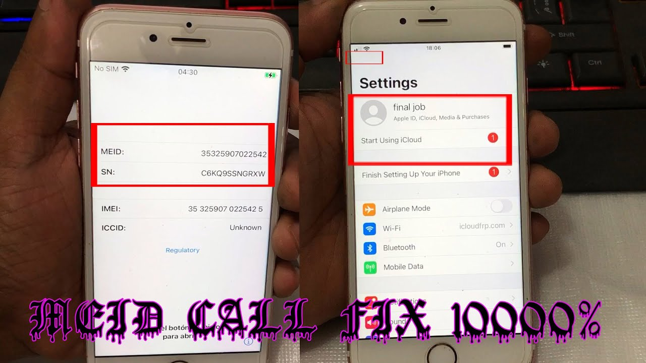[Windows] Untethered MEID CALL FIX📶 1000% TESTED METHOD✔iOS 14.1-12.4.8 iPhone 6s To X 100% Support📶