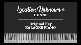 Location Unknown ◐ (PIANO INSTRUMENTAL KARAOKE COVER) HONNE (Brooklyn Session)