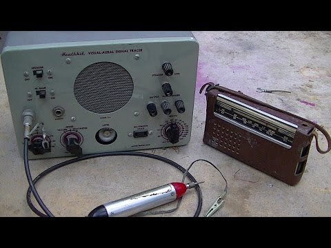 Heathkit Signal Tracer and Pocket Radio Repair