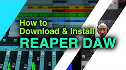 How to download and install Reaper