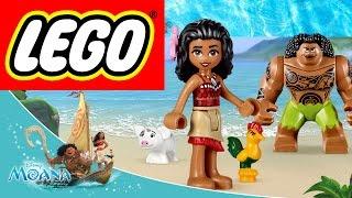 Распаковка Лего Принцесса Моана из Диснея 2016 Обзор игрушки lego moana дети играют в  Моану и Мауи