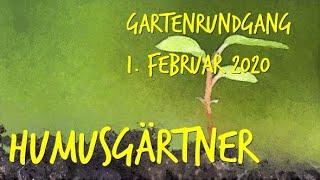 Gartenrundgang 1  Februar 2020 durch unseren Permakulturgarten zur Selbstversorgung
