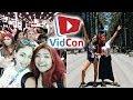 VIDCON VLOG // Disney w/ Cheap Lazy Vegan + Vegan Corndog & Pizza!
