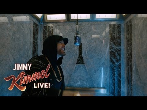 "EXCLUSIVE  Eminem Performs ""Venom"" from the Empire State Building! Presented  Google Pixel 3"