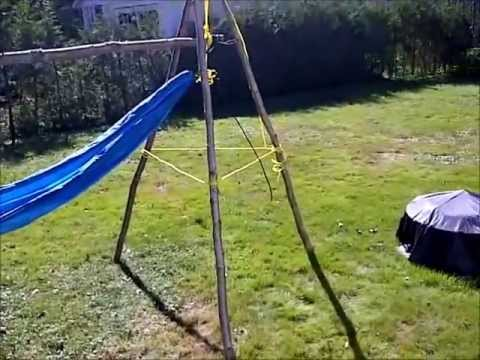 diy back yard tripod hammock set up diy back yard tripod hammock set up   youtube  rh   youtube