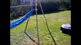 Diy Back Yard Tripod Hammock Set Up