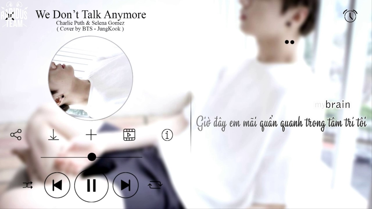 [VIETSUB+MP3 DL] We don't talk anymore by JK - YouTube