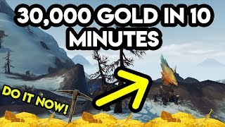 World Of Warcraft Gold Farm 30,000 Gold In 10 Minutes (Battle For Azeroth)