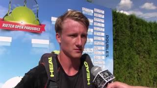 Zdeněk Kolář po výhře ve druhém kole na turnaji Futures v Pardubicích