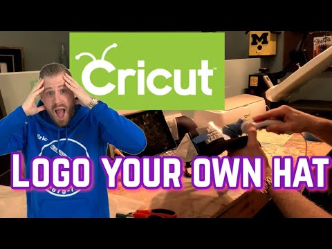 How To Put HTV/ Logo On A Hat/snap Back With The Cricut Maker