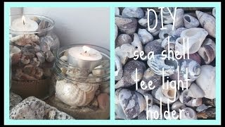 DIY sea shell tee light holders Thumbnail