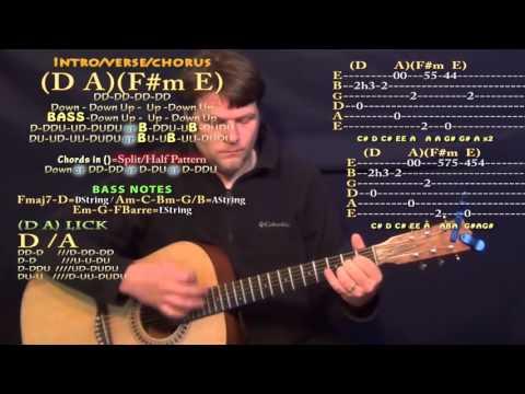 Fast Car (Jonas Blue) Guitar Lesson Chord Chart in A Major - D A F#m E