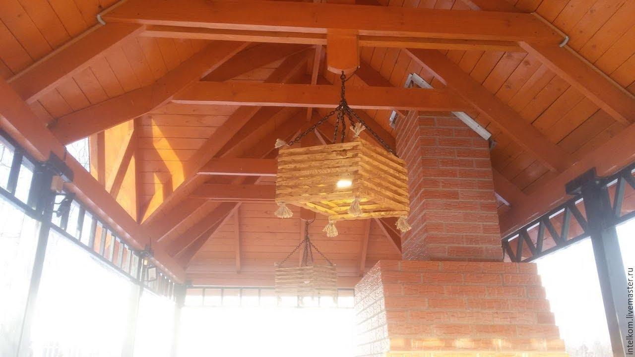 Оригинальное освещение БЕСЕДКи создаст уютный дворик