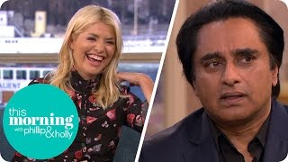 Repeat youtube video Sanjeev Bhaskar and Nicola Walker Show Their 'Did I Leave the Gas On' Faces | This Morning