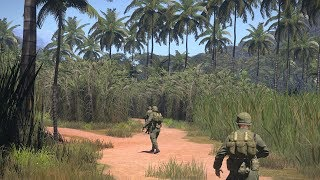 Gambar cover Very Beautiful Mod about Vietnam War ! Realistic FPS Game ArmA 3 Unsung Vietnam Mod