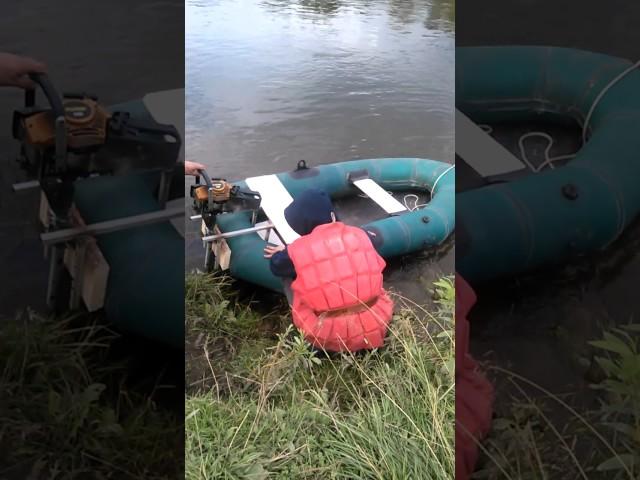 Лодочный двигатель из газонокосилки | Мастер