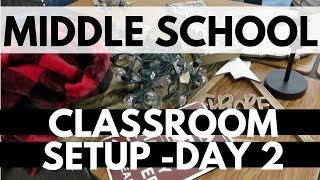 2018 - 2019 Middle School Classroom Setup Day 2 Back to School Classroom Haul Decor Teacher Vlog