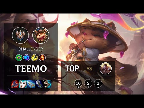 Teemo Top vs Jayce - BR Challenger Patch 10.19