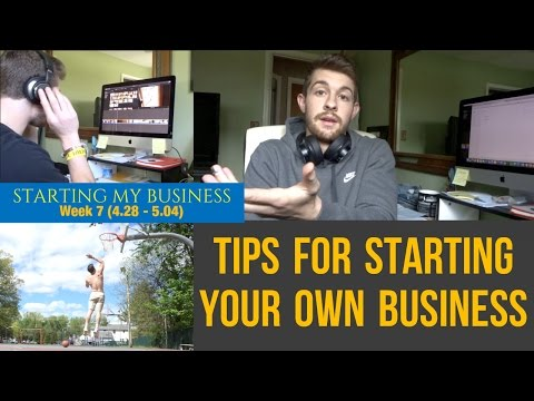 Starting My Business | Week 7 | Tips for Starting Your Own Business/Brand