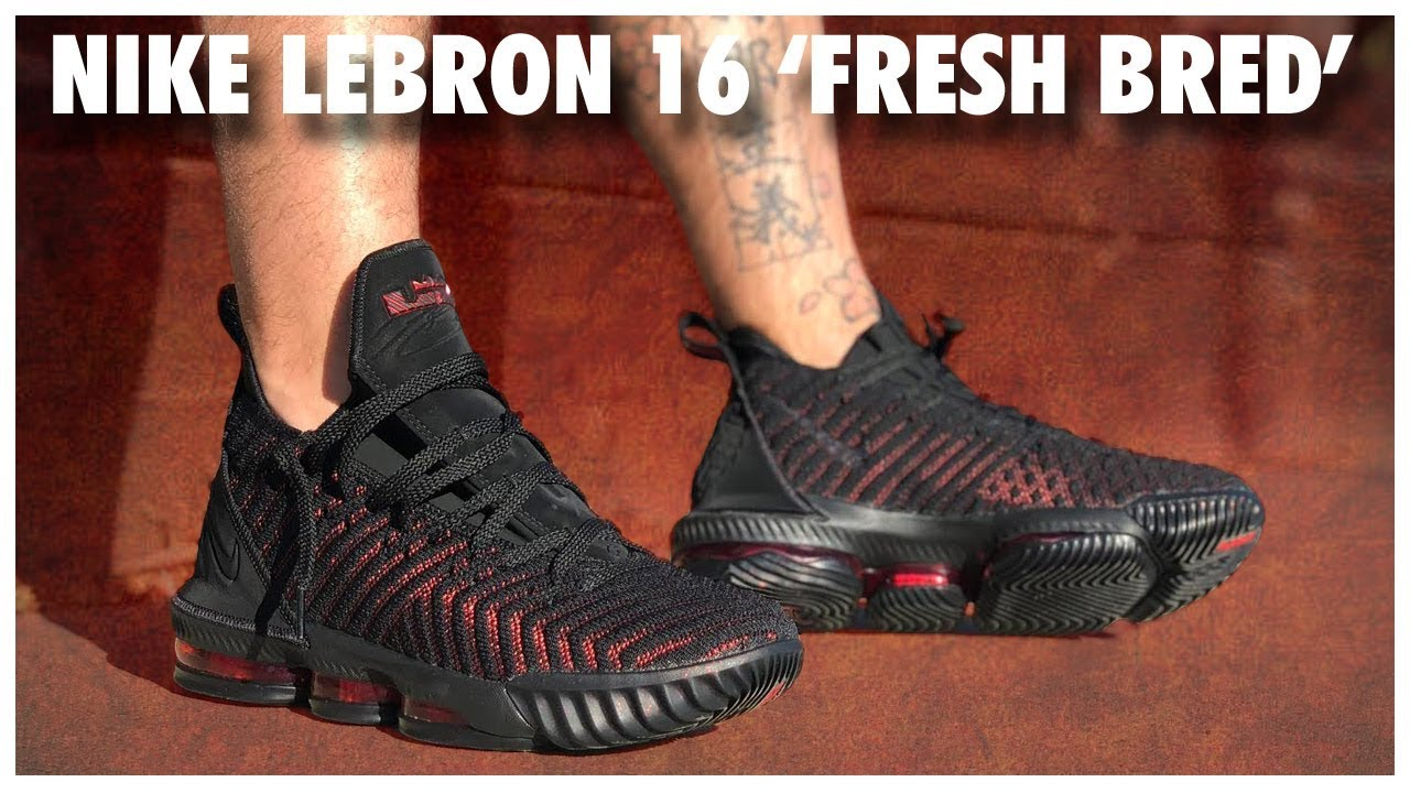 d32425f603d11 Nike LeBron 16  Fresh Bred  Review - YouTube