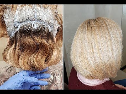 Как осветлить мелированные волосы в домашних условиях