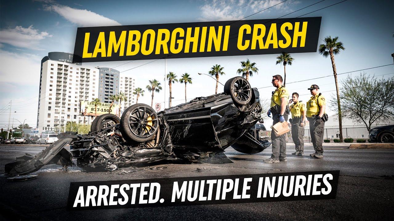 LAMBORGHINI CRASH *Driver Arrested - Multiple Injuries*