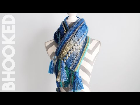 Waves Crochet Hairpin Lace Infinity Scarf