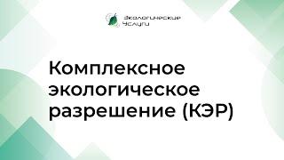Комплексное экологическое разрешение (урок 13)