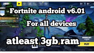 Fortnite android download v6.01 apk for all devices