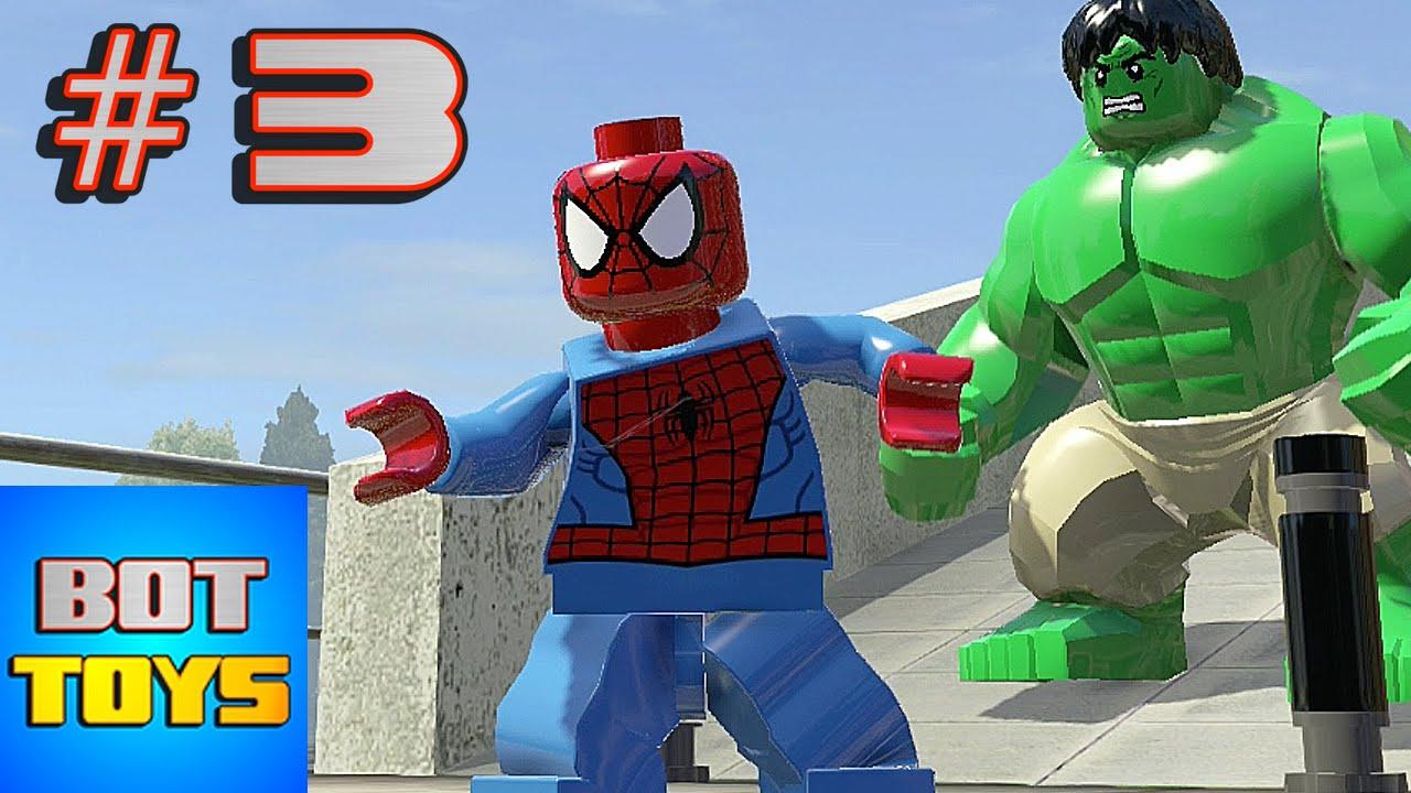 El Hombre Araa de los Dibujos Animados con Los Vengadores en Lego