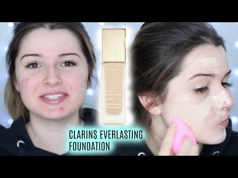 CLARINS EVERLASTING+ FOUNDATION ON DRY/ACNE SKIN | ALL DAY WEAR TEST