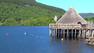 Scottish Crannog Loch Tay Perthshire Highlands Scotland