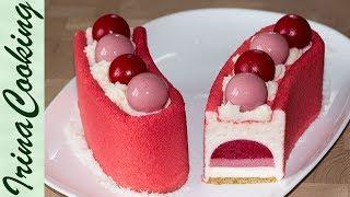 Муссовый малиновый торт (форма Звезда Арены) |  Mousse Raspberry Cake (KIT STELLA DEL CIRCO)