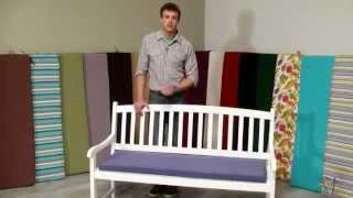 Coral Coast 55 X 18 Outdoor Bench And Swing Cushion - Product Review Video