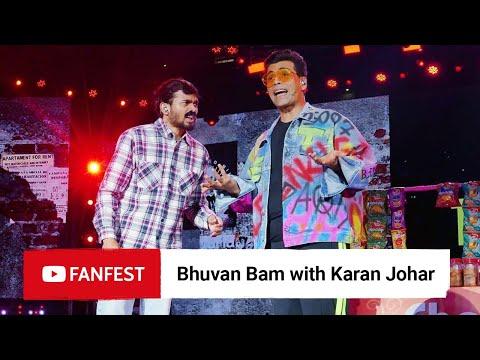 Bhuvan Bam With Karan Johar @  Fanfest Mumbai 2019