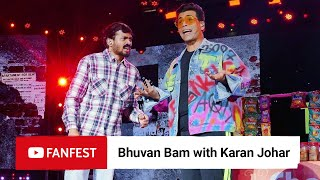 Bhuvan Bam with Karan Johar @ YouTube FanFest Mumbai 2019