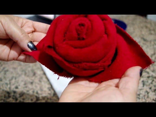 rosa con servilleta