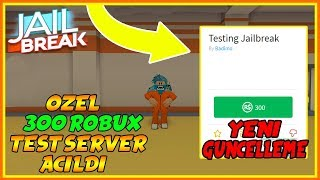 300 ROBUXLUK TEST SERVER A-ILDI !! / Roblox Jailbreak / Roblox Türkée / FarukTPC