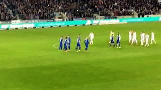1.FC Magdeburg vs Erzgebirge Aue 01.04.2016 BLOCK-U 1965 HKS Ultras Flutlicht 1FCM WSDGDW