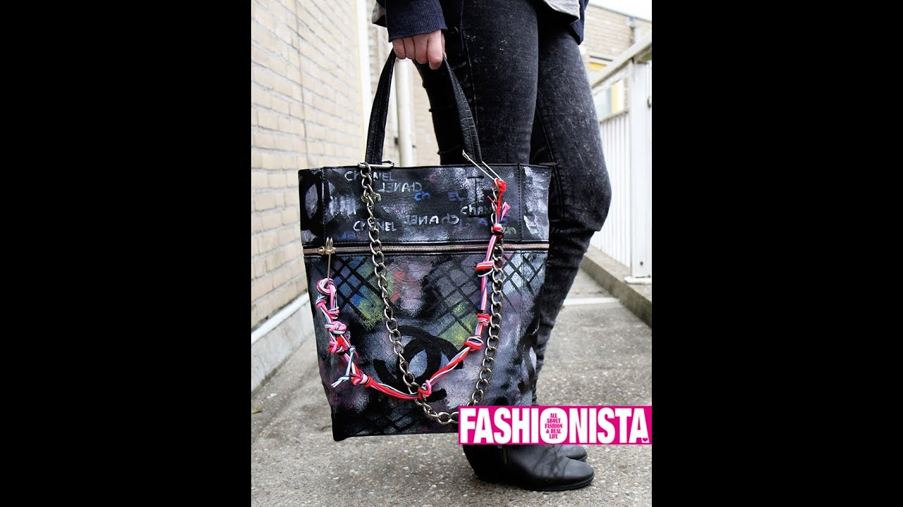 fashionista diy chanel spray paint bag youtube