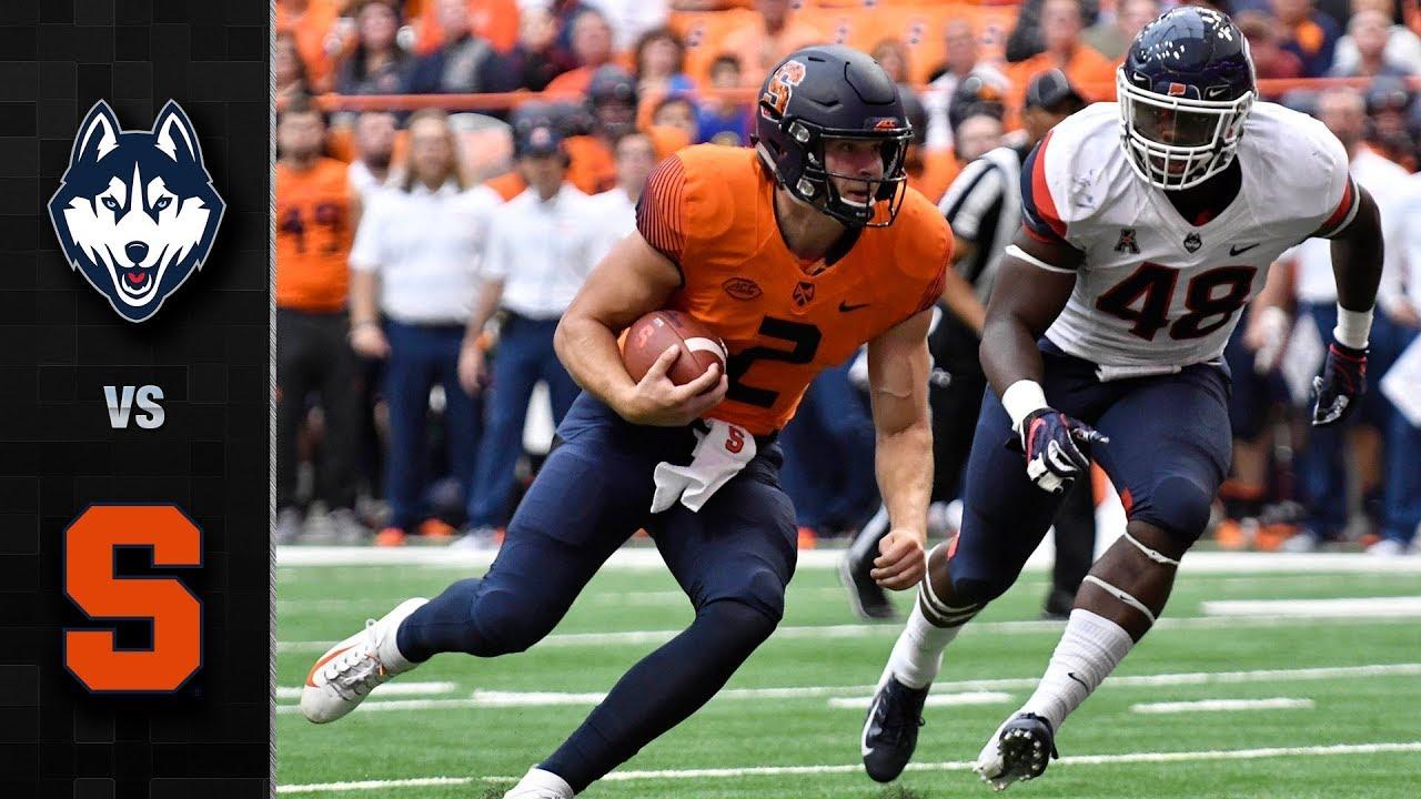 UConn Vs. Syracuse Football Highlights (2018)