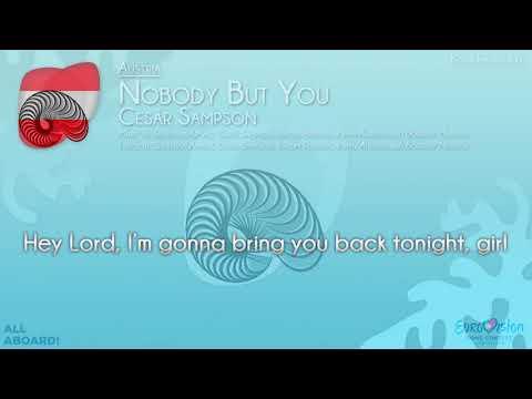 "Cesár Sampson - ""Nobody But You"" (Austria) [Karaoke Version]"