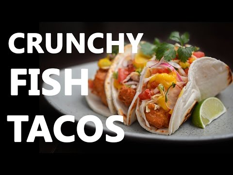 Crunchy Fish Tacos With Cabbage Slaw, Tomato-Radis