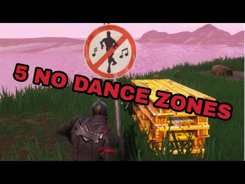 Where To Find 5 NO DANCE ZONES (Fortnite Battle Royal)