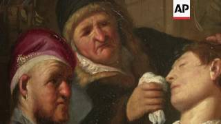 Newly Discovered Rembrandt Painting On Exhibition