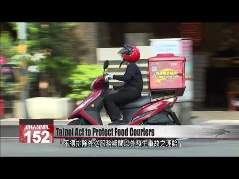 Taipei passes act requiring insurance for food couriers