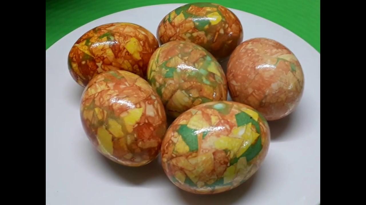 Простой и красивый способ покраски яиц на Пасху - YouTube