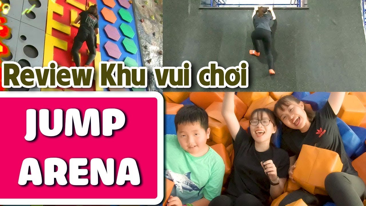 Thử thách Ninja tại khu vui chơi Jump Arena