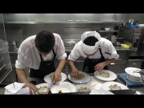 Busy kitchen at the 3 Michelin star restaurant Quique Dacosta