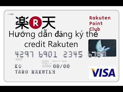 Cuộc Sống Nhật Bản 04:Hướng Dẫn đăng Ký Thẻ Credit Rakuten Nhật Bản